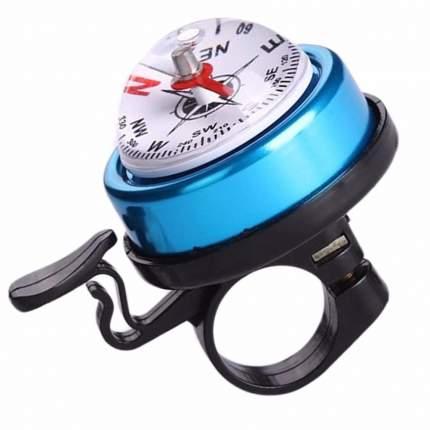 Звонок ударный с компасом, синий, сталь/пластик