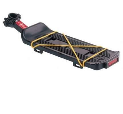 Багажник для велосипеда Yueni yf-3s консольный, сталь/пластик, чёрный, с катафотом