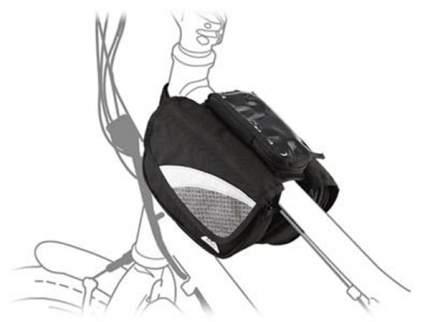 Сумка для велосипеда на раму передняя sh-17, 17,5х12x14см, чёрная с серой вставкой