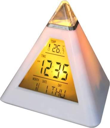 Часы-будильник Irit IR-636, термометр, календарь, форма-пирамида