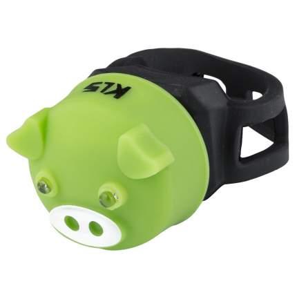 Фонарик задний KLS PIGGY зелёный