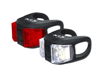 Kellys комплект освещения twins, 2 диода, 2 режима, батарейки в компл., цвет чёрный