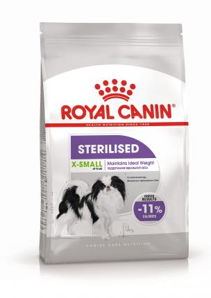Сухой корм для собак ROYAL CANIN Sterilised X - Small Adult, птица, 0.5кг
