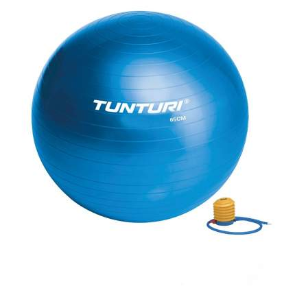 Фитбол Tunturi Gymball, 65 см, синий, с насосом