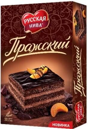 Торт бисквитный Русская Нива Пражский 400г