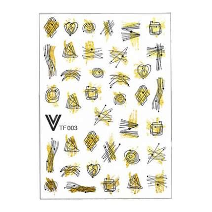 Vogue Nails, Слайдер №003, фольгированный