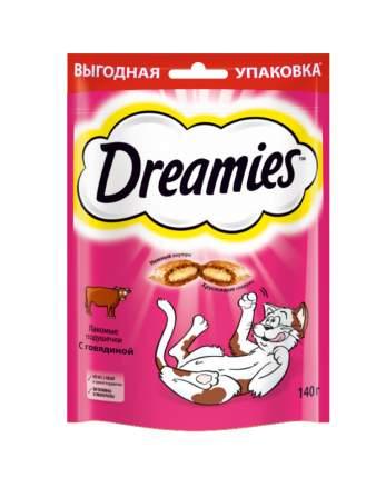 Лакомство для кошек Dreamies, Лакомые подушечки с говядиной, 140г