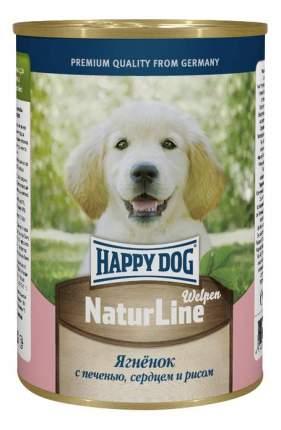 Консервы для щенков Happy Dog NaturLine, ягненок, сердце, печень, рис, 20шт, 410г