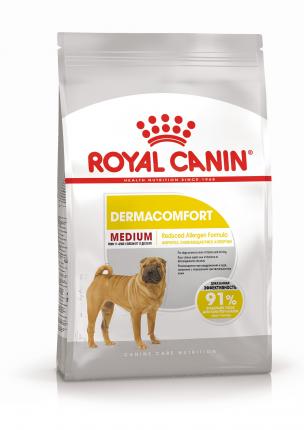 Сухой корм для собак ROYAL CANIN Dermacomfort Medium Adult, мясо, 10кг
