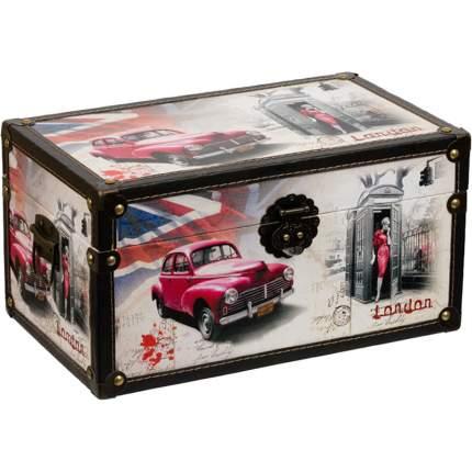 "Декоративная шкатулка Gamma №013 ""Красный автомобиль"", 35 x 21 x 19 см, DBK-03"