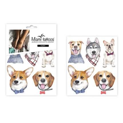 Miami Tattoos, Переводные мини-тату  Puppy, 1 лист