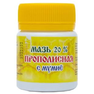 Мазь прополисная с мумие 20% Мелмур 47 г