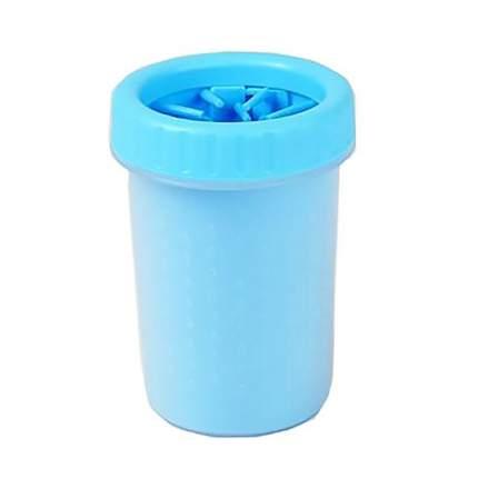 Лапомойка для собак PetCare Soft Gentle M пластик, силикон, голубой