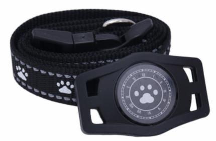 GPS трекер для животных Box69 D40 с подсветкой и ошейником, черный