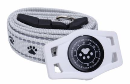 GPS трекер для животных Box69 D40 с подсветкой и ошейником, белый