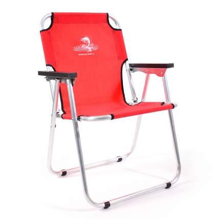 Кресло-шезлонг алюминий, красный AKS-08R Кедр