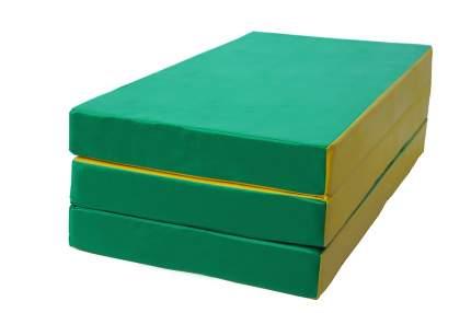 Мат КМС № 4 (100 х 150 х 10) складной, зелёно/жёлтый