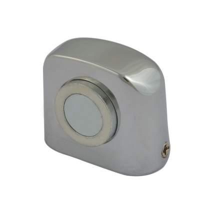 Ограничитель двери НОРА-М 802 магнитный, напольный - Хром