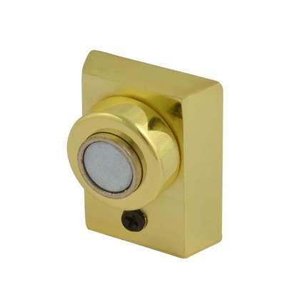 Ограничитель двери НОРА-М 801 магнитный, напольный - Золото