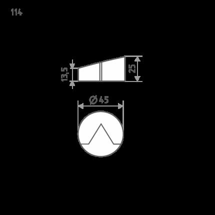 Ограничитель двери НОРА-М 114 напольный - Матовый никель