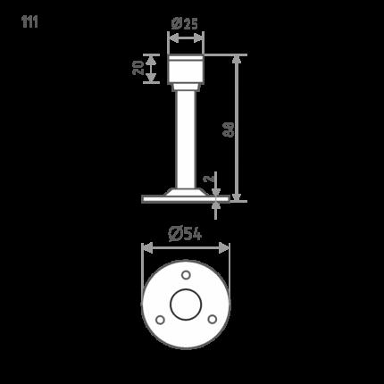 Ограничитель двери НОРА-М 111 настенный - Золото