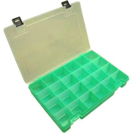 Коробка Тривол ТИП-7 темно-зел. 274х188х45мм, 6 съёмных перегородок, 24 ячейки