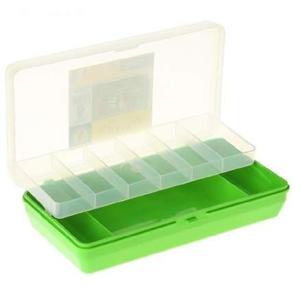 Коробка Тривол ТИП-5 салатовая 210х110х50мм, двухъярусная c микролифтом, крышка прозрач
