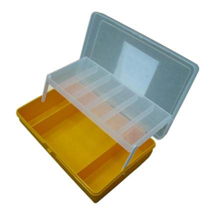 Коробка Тривол ТИП-4 желтая 235х150х65мм, двухъярусная с микролифтом