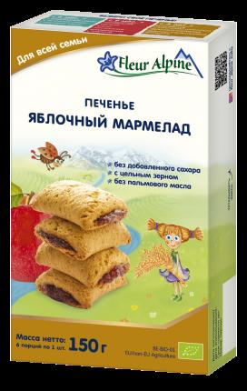 Печенье Fleur Alpine Яблочный мармелад для всей семьи, 6x150 г