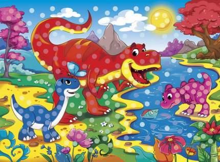Мозаика гелевая Рыжий кот Друзья динозавры