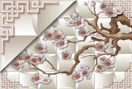 "Фотообои 3D Divino Decor ""Ветви с цветами 400х270"""
