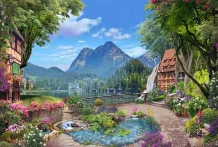 """Фотообои Divino Decor """"Озеро у подножия гор 400х270см"""""""