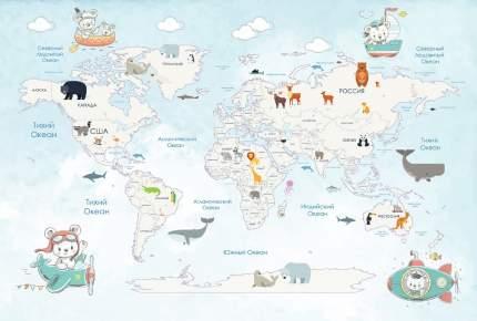 Фотообои детские Divino Decor Карта путешествий 400х270