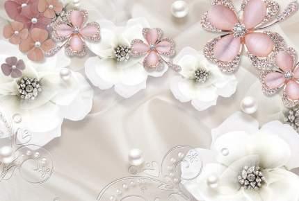 "Фотообои 3D Divino Decor ""Белые цветы 400х270"""