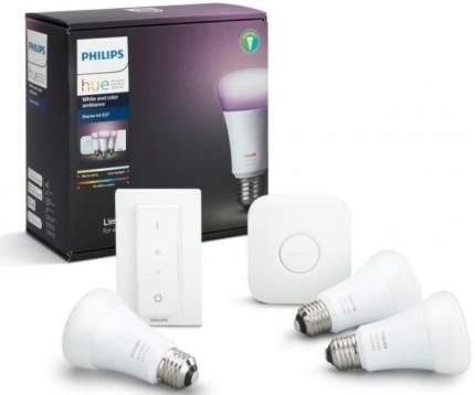 Комплект умных светодиодных ламп Philips Hue White and Color Ambiance E27 Starter Kit
