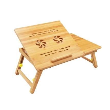 Столик для ноутбука Zitrek складной с охлаждением, из бамбука 55х35х28см