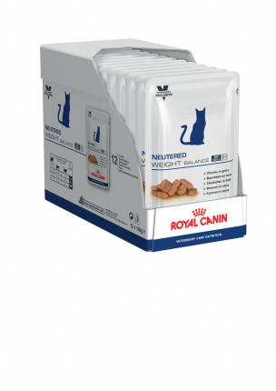 Влажный корм для кошек ROYAL CANIN Neutered Weight Balance, свинина, птица, 12шт, 100г