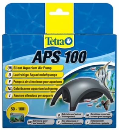 Компрессор для аквариума Tetra АРS 100 одноканальный, черный, 100 л/час