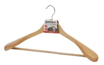 """Вешалка-плечики, анатомическая """"Brabix. Люкс"""", дерево, 45 см, цвет натуральный"""