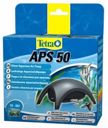 Компрессор для аквариума Tetra АРS 50 одноканальный, черный, 50 л/час