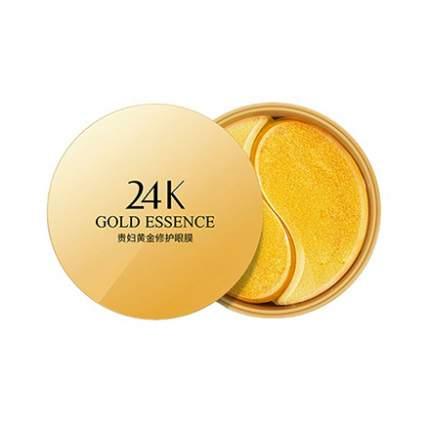 HOUMAI, Гидрогелевые патчи с золотом для глаз, 60 шт.