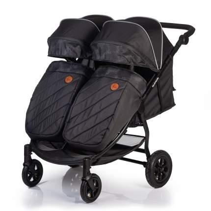 Прогулочная коляска для двойни Acarento Prevalenza Duo, с надувными колесами,темно-серый