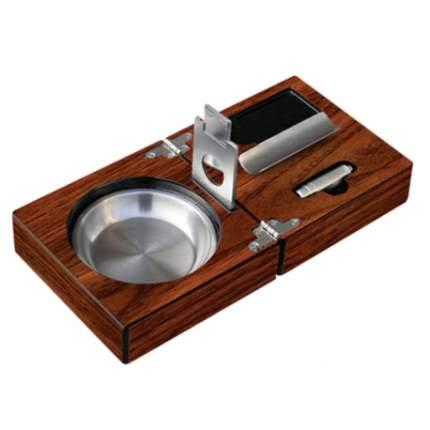 Пепельница для сигар складная Colibri walnut lacquer TBL-001660A
