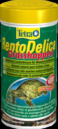 Корм для рептилий Tetra ReptoDelica лакомство для водных черепах, кузнечики, 250мл