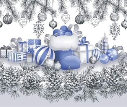 """Полотенце вафельное Новогоднее """"Семейные традиции 2"""" 50х70"""