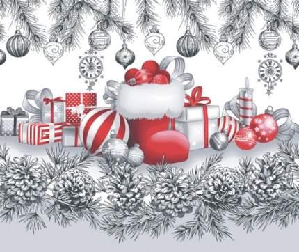 """Полотенце вафельное Новогоднее """"Семейные традиции 1"""" 50х70"""