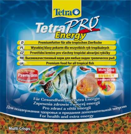 Корм для рыб Tetra PRO Energy, для дополнительной энергии, чипсы, 12 г