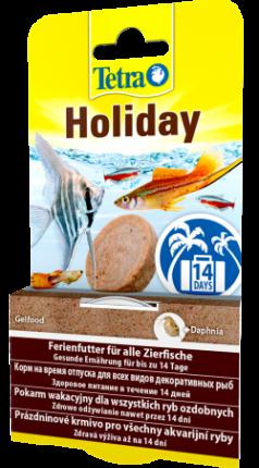Корм для рыб Tetra Min Holiday, для отпуска, на 14 дней, гель, 30 г
