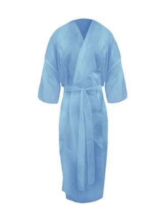 Халат одноразовый Кимоно с рукавами СМС Люкс голубой 5 шт.