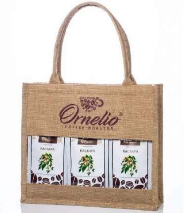 Подарочная джутовая сумка трио Ornelio Каскара 750 г